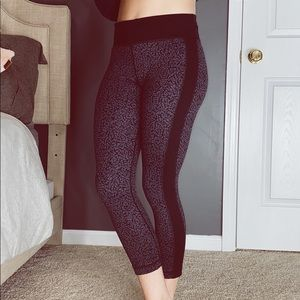 Under Armour Black leggings with print
